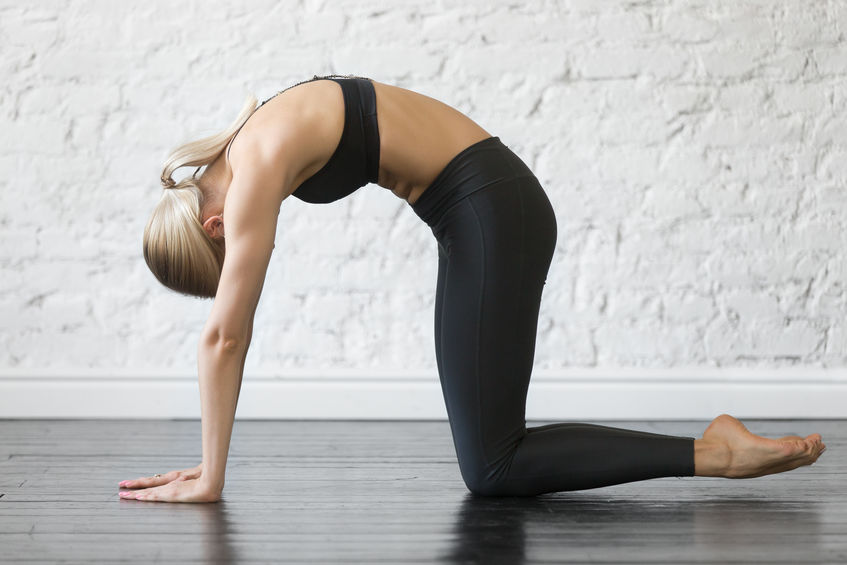 Cat-Cow is another yoga pose that helps engage and strengthen the pelvic floor muscles, and a well-rounded yoga practice can help to encourage overall pelvic health.